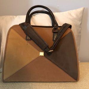 DVF suede travel bag